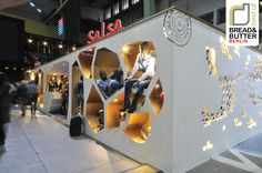 Bread & Butter Berlin 2012 – SALSA exhibit design (instead of bread & butter, this one resembles Swiss cheese!)