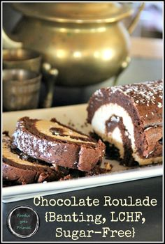 Light as a feather Chocolate Roulade {Banting, LCHF, Sugar-Free & Grain-Free} - Pinterest
