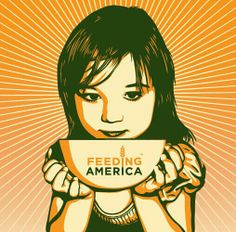 Feeding America.  Shepard Fairey OBEY Giant.