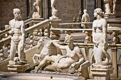 Fountain of the Shame in Piazza Pretoria, Palermo, Italy