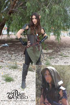 Avryale - LARP Elf Ranger costume by ~Avryale on deviantART