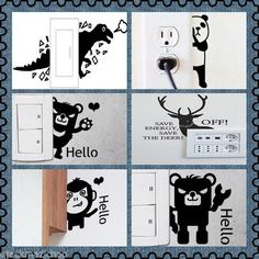 Animal Switch Sticker Wall Quote Wall Stickers Vinyl Decor Decals Home Mural Au #WallDcor