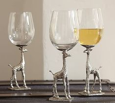 Giraffe Wine Glass, Set of 2 #potterybarn