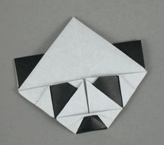 origami panda bookmark-great idea for a kid craft for Luke's panda party!