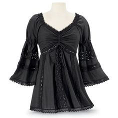 CrazyRomantic.com loves this! all cotton hand wash $60.00. Lady Faire Top - Women's Clothing & Symbolic Jewelry – Sexy, Fantasy, Romantic Fashions