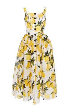 Dolce & Gabbana Cotton Lemon Print And Needlepoint Dress. Trendy Dresses, Cute Dresses, Beautiful Dresses, Casual Dresses, Fashion Dresses, Satin Dresses, Day Dresses, Summer Dresses, Silk Dress