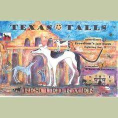 Texas Talls Rescued Racer IV Greyhound Print