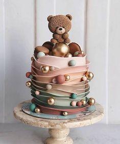 Creative Birthday Cakes, Baby Birthday Cakes, Beautiful Birthday Cakes, Elegant Birthday Cakes, Birthday Kids, 22nd Birthday, Birthday Parties, Happy Birthday, Beautiful Cake Designs