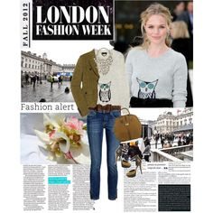 """""""Celebrity look - Kate Bosworth at Burberry - F/W '12 London Fashion Week"""" by ginevra-18 on Polyvore"""