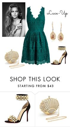 """""""Untitled #1424"""" by krissybob ❤ liked on Polyvore featuring Christian Louboutin and Ross-Simons"""