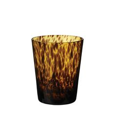 Tortoiseshell Low Glass Tumblers, Set of 4
