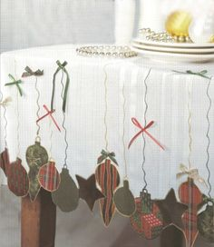 Christmas Ornaments Tablecloth from Inspired at Home   FaveCrafts.com