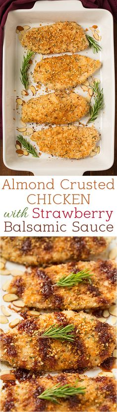 10 Most Misleading Foods That We Imagined Were Being Nutritious! Almond Crusted Chicken With Strawberry Balsamic Sauce - This Chicken Is Seriously Delicious Flavorful And Easy To Make Turkey Recipes, Chicken Recipes, Dinner Recipes, Potato Recipes, Pasta Recipes, Soup Recipes, Breakfast Recipes, Dessert Recipes, Almond Crusted Chicken