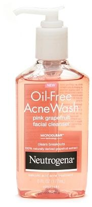 Neutrogena Oil-Free Acne Wash Pink Grapefruit Facial Cleanser on shopstyle.com