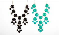Groupon - $ 12.99 for a t+j Designs Bubble Dots Bib Necklace ($ 88 List Price). 4 Colors Available. Free Returns.. Groupon deal price: $12.99