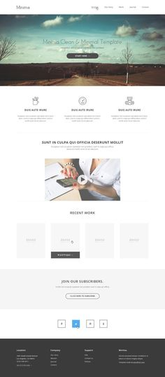 Minimal PSD Template Minima: Free PSD Website Template