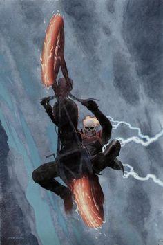 Comic Book Artists, Comic Artist, Comic Books Art, Ghost Rider Johnny Blaze, Ghost Rider Marvel, Marvel Comics Art, Marvel Heroes, Captain Marvel, Marvel Comic Character