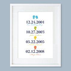 Dates importantes Subway Art personnalisé cadeau par LePapierStudio