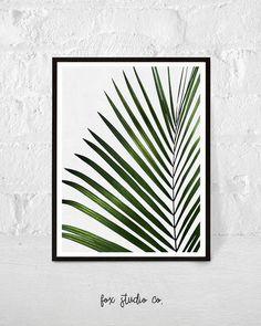 Art Tropical, Motif Tropical, Image Deco, Palm Tree Leaves, Bedroom Prints, Botanical Wall Art, Painted Leaves, Leaf Prints, Printable Art