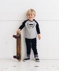Skate Kids Raglan Tshirt by PaulandPaulaShop on Etsy, $34.00