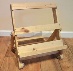 Natural upcycled pallet wood, portable art easel and/or adjustable display stand, small...or buy of course from this awesome Etsy shop!