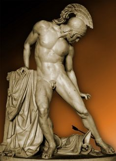 Innocenzo Fraccaroli, 1805-1888, Death of Achilles, Villa Reale, Milan, Italy