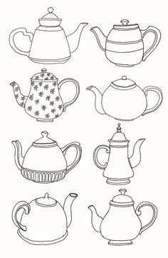 Teapot drawings