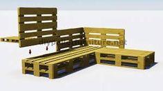 Resultado de imagen de como hacer un banco con respaldo con palets de madera