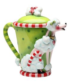 Look what I found on #zulily! Green & Ruby Poodle Teapot #zulilyfinds