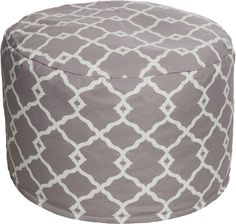 A Moroccan-inspired trellis motif lends this classic pouf a life and style all of its own. Use it as a traditional seat or ottoman, or top with a tray and use as a cocktail table. Furniture > Outdoor Furniture > Outdoor Poufs.
