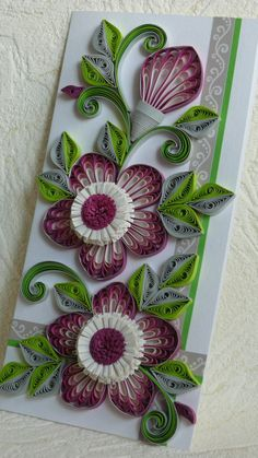 Quilling Greeting Card - Anniversary , Birthday , Wedding , Mother's Day