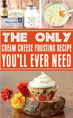 Cream Cheese Frosting for Decorating: Easy Whipped dreamy frosting recipe!  Just 4 ingredients, and you've got the most delicious frosting recipe ever!!  Go grab the recipe and give it a try!