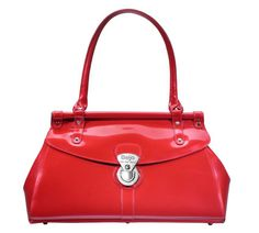 Trendsetter (Lipstick Red)    Dimensions: 16″ L x 5.5″ W x 10″ H - Strap Length: 8.5″ - Opening: 3″ - Trim Colors: None - SRP: $115.00 - Available In: Ebony, Fuchsia, Lipstick Red, Marina Blue, Chocolate