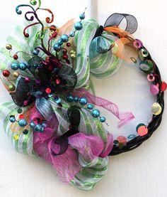 decomesh wreaths christmas   roca art teacher houston texas deco mesh christmas wreath created ...