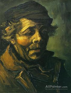 """Vincent Van Gogh Head Of A Peasant (study For """"the Potato Eaters"""") oil painting reproductions for sale Van Gogh Portraits, Van Gogh Self Portrait, Rembrandt, Charles Gleyre, Van Gogh Arte, Vincent Willem Van Gogh, Art Van, Van Gogh Paintings, Oil Paintings"""