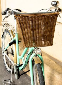 Travel photography -  tour de France Parisian mint green Bike Paris fine art photograph - mint green decor.