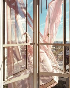 blush pink curtains