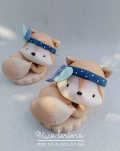 Cute Polymer Clay, Cute Clay, Polymer Clay Crafts, Felt Crafts, Fondant Animals, Clay Animals, Ballerina Cakes, Animal Cakes, Biscuit