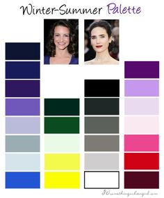 Winter-Summer, Cool Winter color palette http://www.30somethingurbangirl.com/2013/10/are-you-winter-summer-cool-winter.html