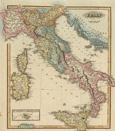 A Historical Map of Italy