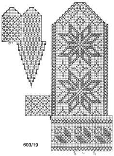 Vegg Knitted Mittens Pattern, Crochet Mittens, Crochet Gloves, Knitting Charts, Knitting Stitches, Knitting Socks, Knitting Patterns, Wrist Warmers, Craft Patterns