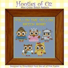 wizard of oz cross stitching pattern | Relive the adventures of Dorothy in the Wizard of Oz, Hootie style! Be ...