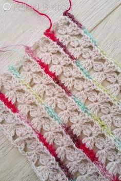 Rows of Posies Blanket Crochet Pattern by Susan Carlson of Felted Button