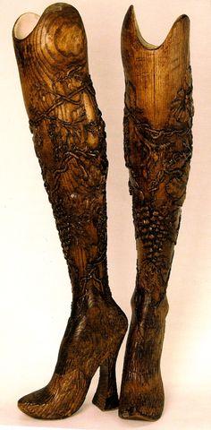 Alexander McQueen, wooden prosthetic legs....