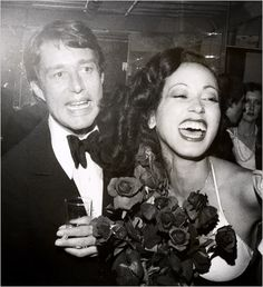 Halston and Pat Cleveland at Studio 54