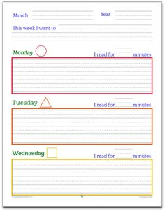 A simple planner printable that you can use to teach the kiddos how to use a planner.