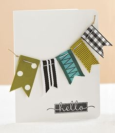 Hello Banner Card by @Kimberly Kesti