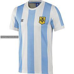 Argentina 1978 World Cup adidas Originals Home Soccer Jersey, Football Kit, Camiseta