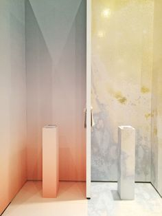 Calico Wallpaper ICFF 2015 Booth, Aurora 'Ray' and Inverted Spaces 'Orion'   NYCxDesign