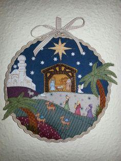 Navidad, decoración con bastidor